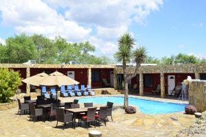 La Finca Lodge in San Fernando Mexico pool and patio
