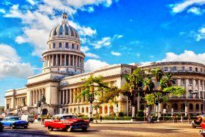 Havana Cuba El Capitolio classic car